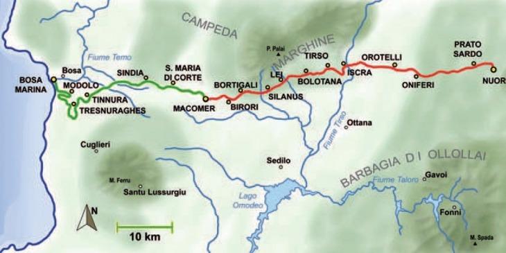 Der Trenino Verde von Bosa Marina nach Nuoro