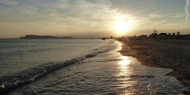 Sardinien, Cagliari, Strand Poetto