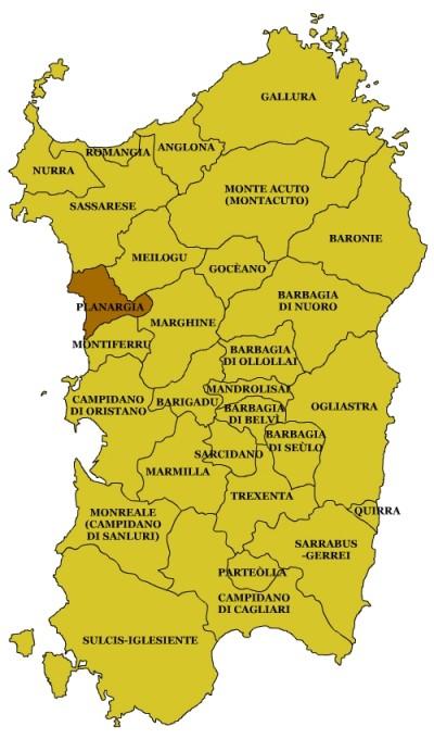 Unterregionen in Sardinien, Wikipedia