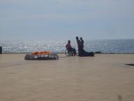 Sardinien, Bosa Marina am Meer, fuer Paraglider wie fuer Rollstuhlfahrer ein toller Ort