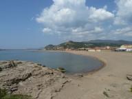 Sardinien, Westkueste, Bosa Marina, der Strand im Maerz