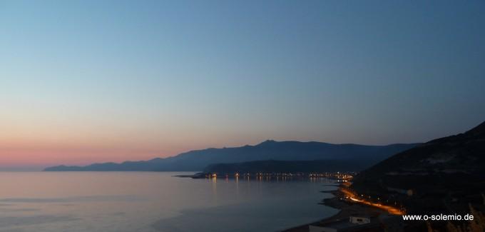 Sardinien, Bosa Marina, Turas, Sonnenuntergang
