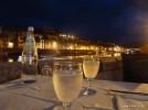 Bosa bei Nacht, Restaurant in den alten Gerbereien