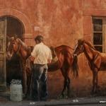 Tinnura nahe Bosa, hat wundervolle Wandmalereien
