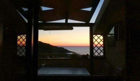 Meerblick vom Balkon und wunderschöne Abendstimmung