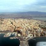 Anflug auf den Flughafen Cagliari