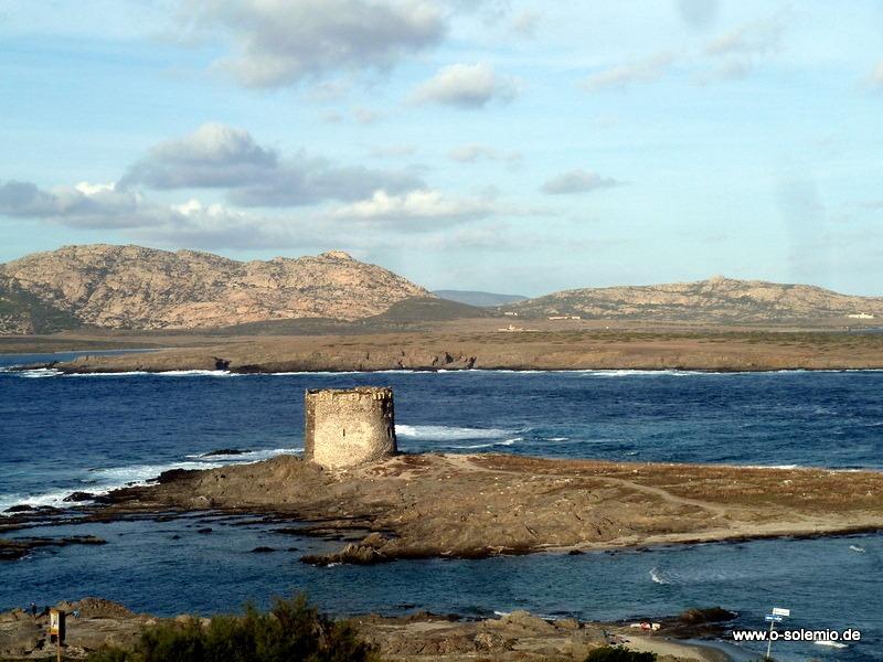 Asinara im Hintergrund