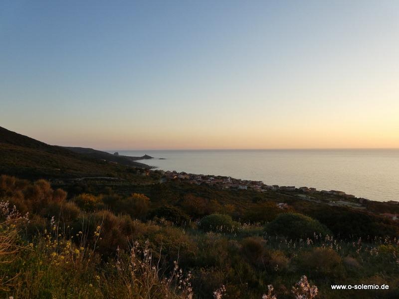 Porto Alabe im Sonnenuntergang