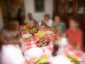 Cena Sarda, Abendessen auf dem Bauernhof bei Schäfern