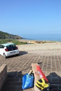 Parkplatz vor Aquamare