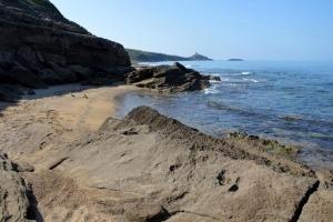Strand bei Porto Alabe am Meer