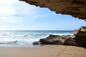 am Meer und Strand bei Porto Alabe