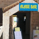 Alabe Bar in Porto Alabe am Meer