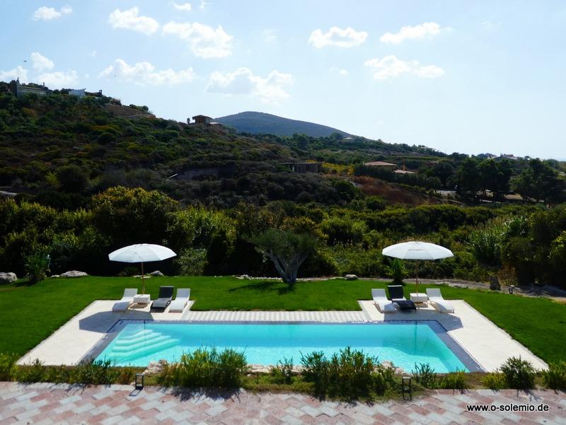Ferienhaus in Sardinien, Villa smeralda mit Pool
